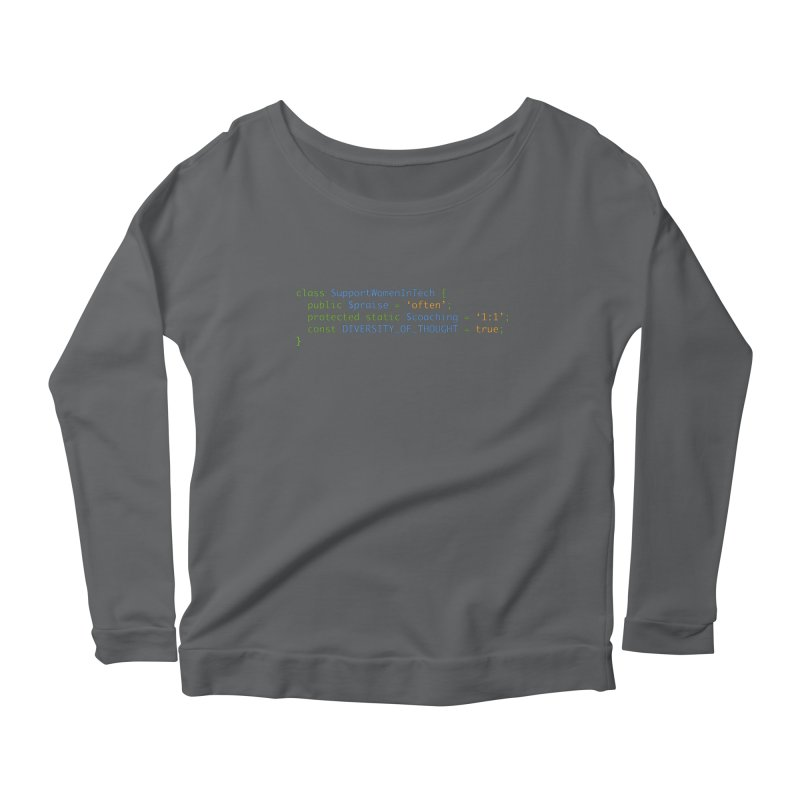 Support Women In Tech Women's Longsleeve T-Shirt by Women in Technology Online Store