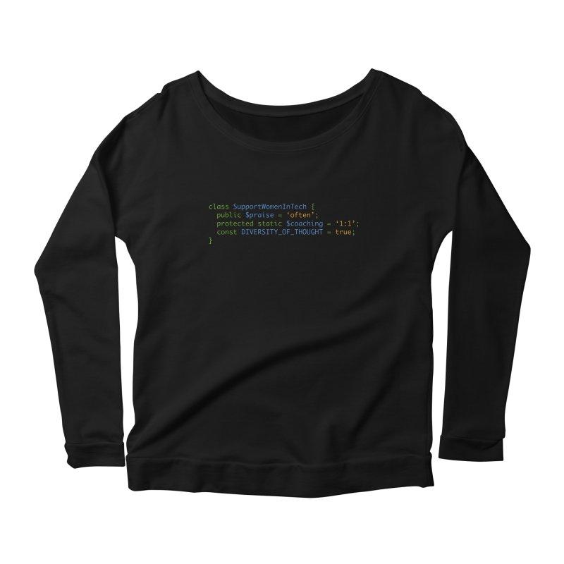 Support Women In Tech Women's Scoop Neck Longsleeve T-Shirt by Women in Technology Online Store
