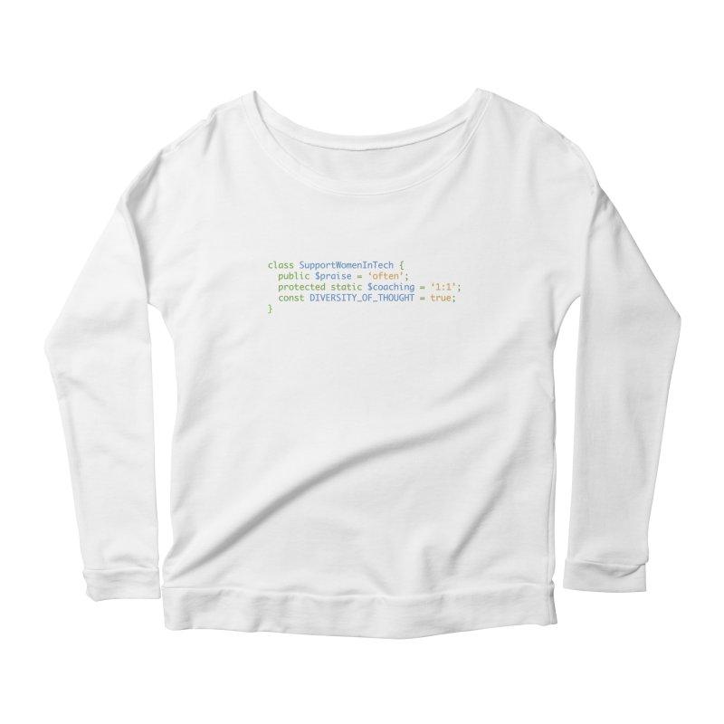 Support Women In Tech Women's Longsleeve T-Shirt by Women in Technology Online Store