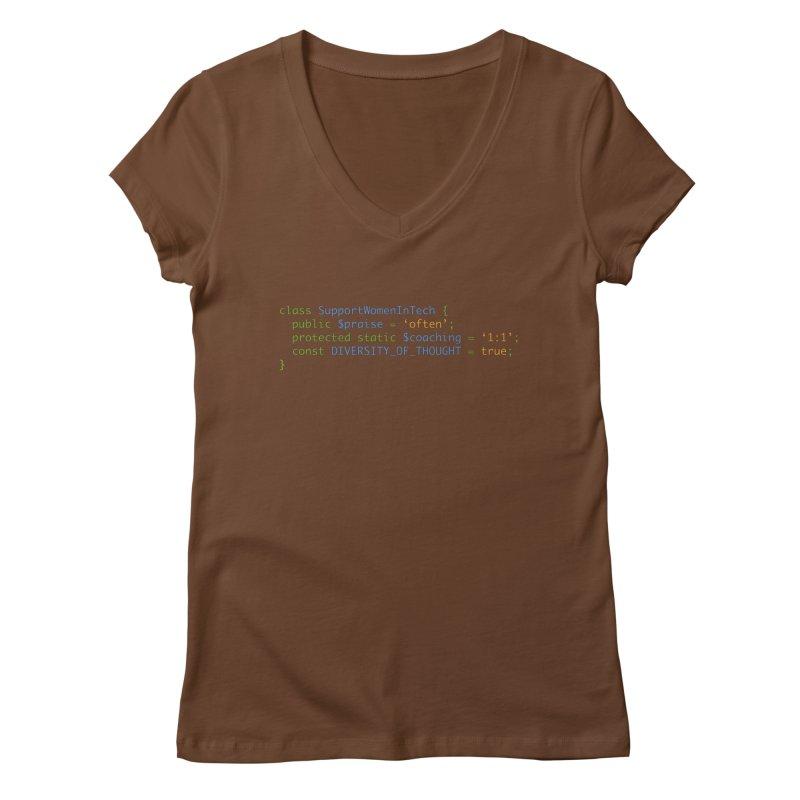 Support Women In Tech Women's Regular V-Neck by Women in Technology Online Store