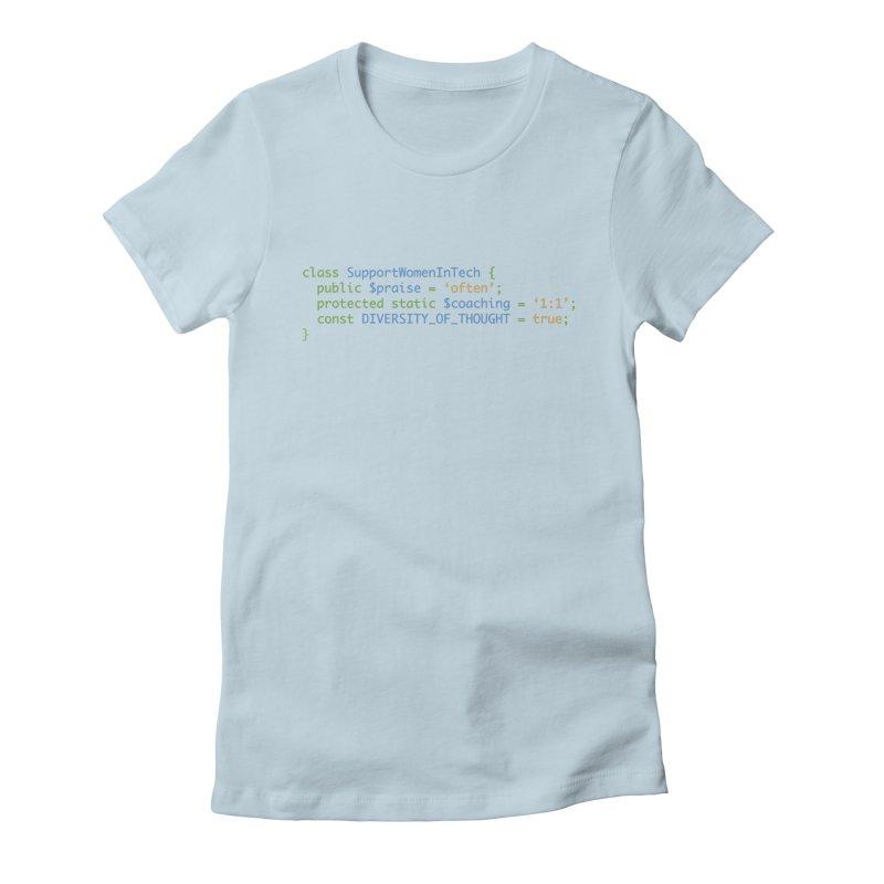 Support Women In Tech Women's Fitted T-Shirt by Women in Technology Online Store