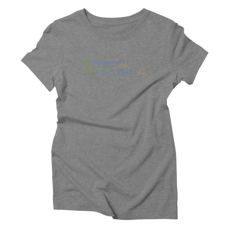 Support Women In Tech Women's Triblend T-Shirt by Women in Technology Online Store