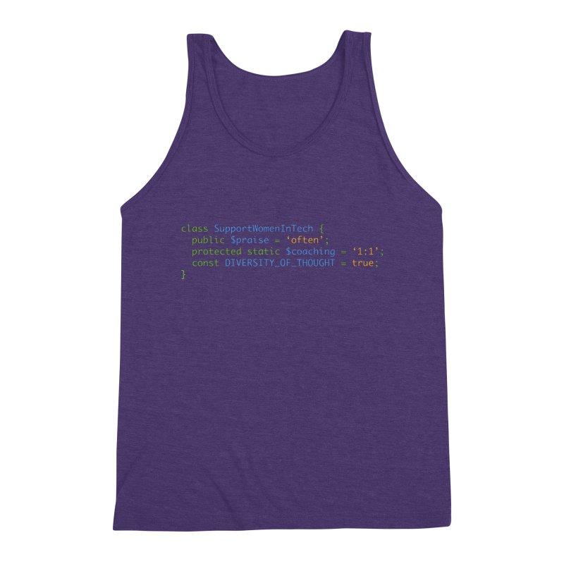 Support Women In Tech Men's Triblend Tank by Women in Technology Online Store