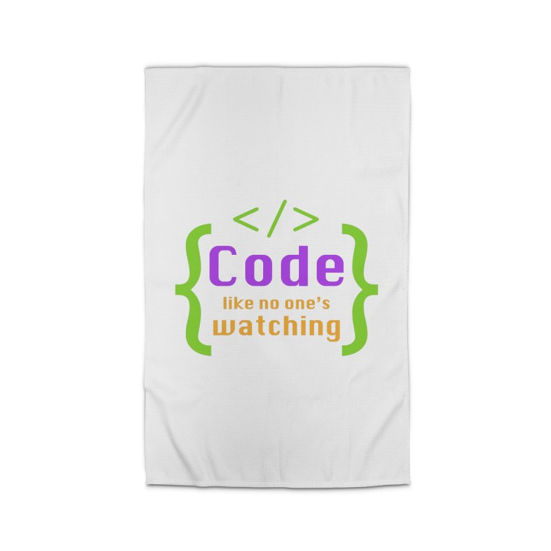 Code Like No One Is Watching Home Rug by Women in Technology Online Store