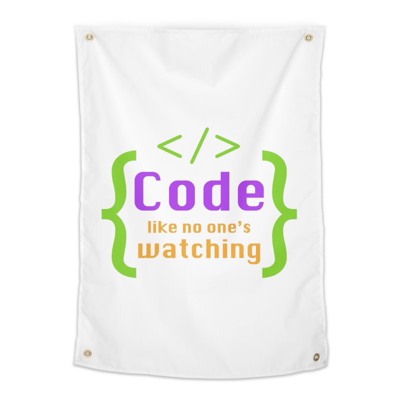 Code Like No One Is Watching Home Tapestry by Women in Technology Online Store