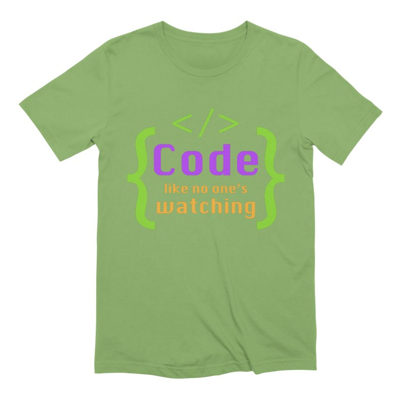 Code Like No One Is Watching Men's Extra Soft T-Shirt by Women in Technology Online Store