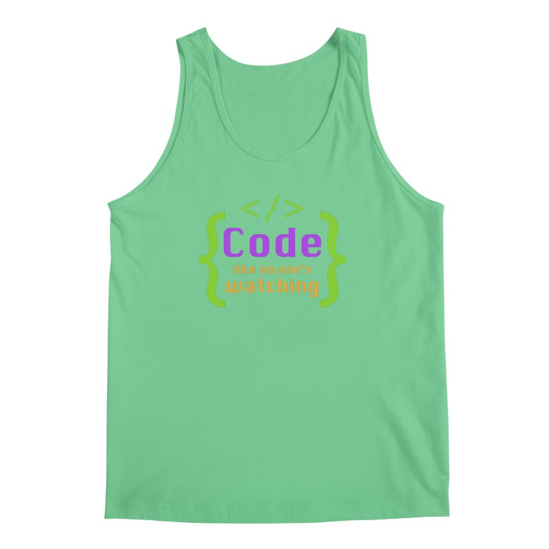 Code Like No One Is Watching Men's Regular Tank by Women in Technology Online Store