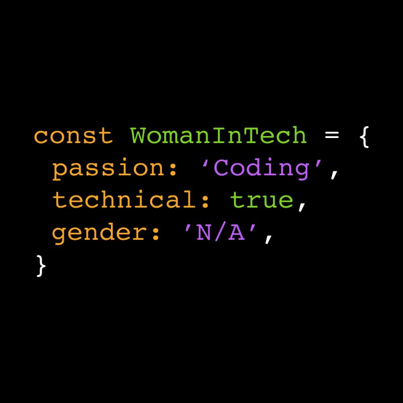 Woman in Tech definition Women's Tank by Women in Technology Online Store