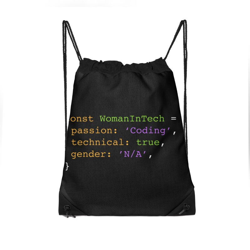 Woman in Tech definition Accessories Drawstring Bag Bag by Women in Technology Online Store
