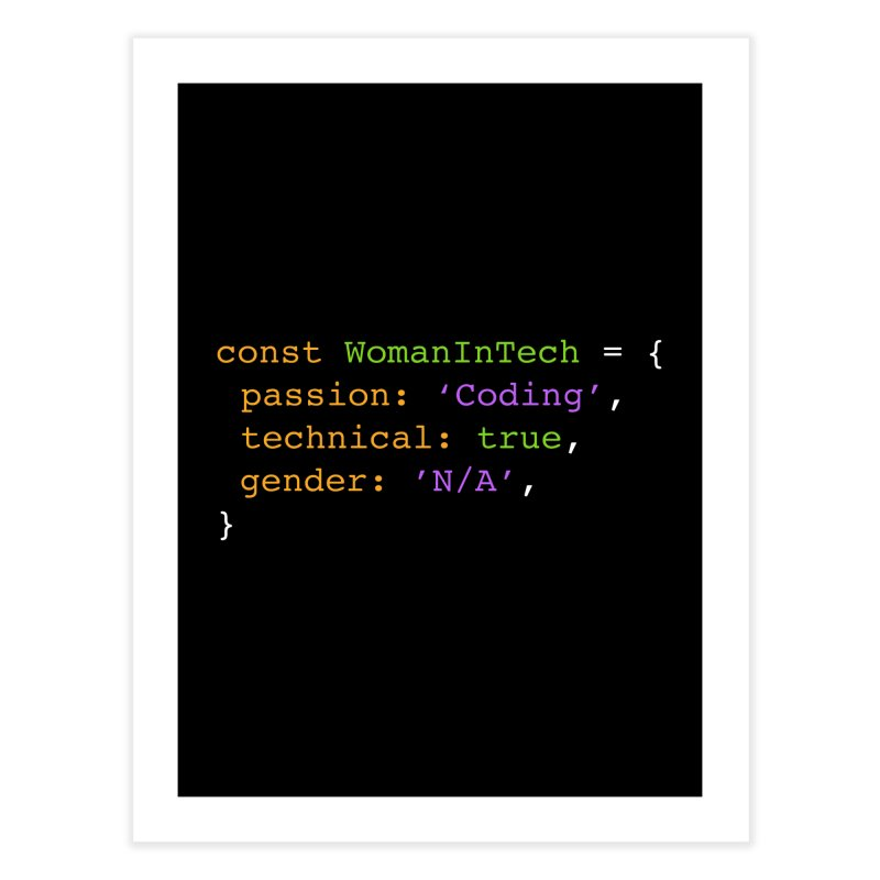 Woman in Tech definition Home Fine Art Print by Women in Technology Online Store