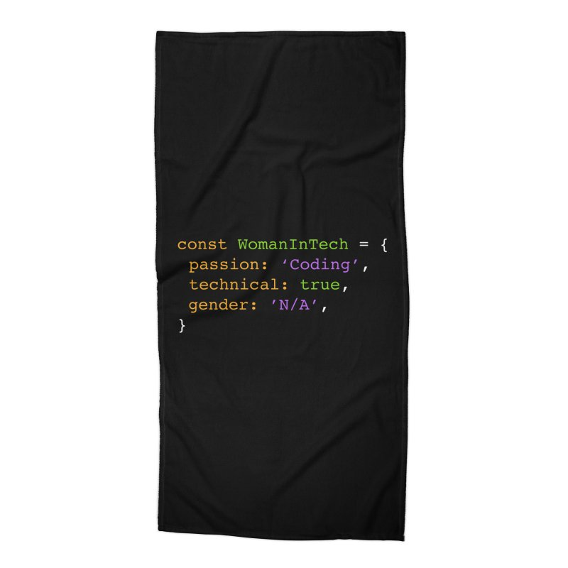 Woman in Tech definition Accessories Beach Towel by Women in Technology Online Store