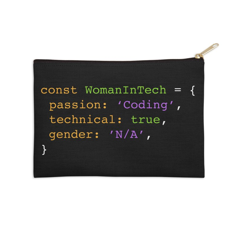 Woman in Tech definition Accessories Zip Pouch by Women in Technology Online Store