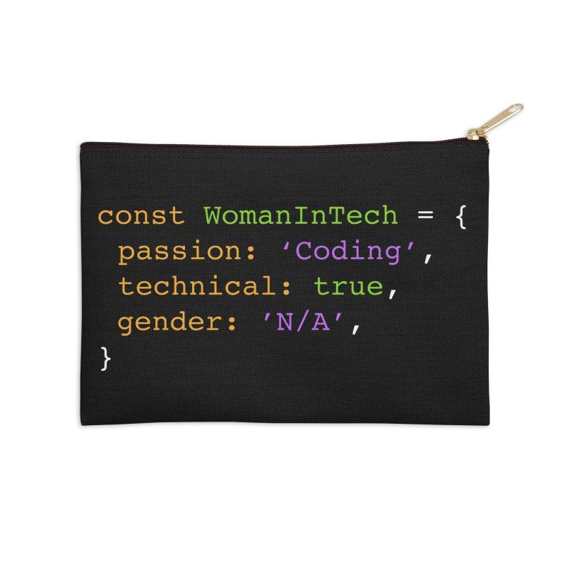 Woman in Tech definition Accessories Zip Pouch by Women in Technology Online Store