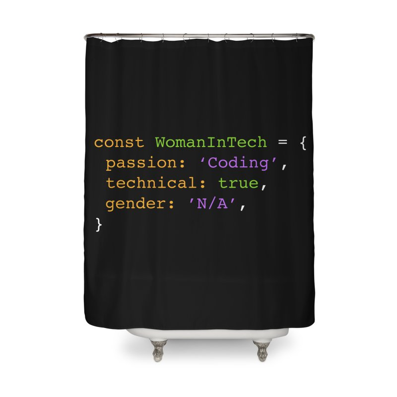 Woman in Tech definition Home Shower Curtain by Women in Technology Online Store