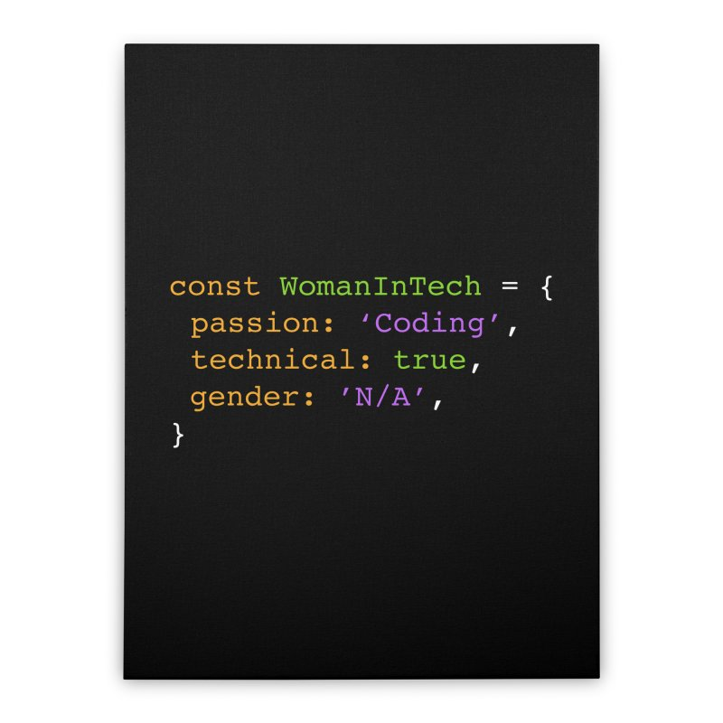 Woman in Tech definition Home Stretched Canvas by Women in Technology Online Store