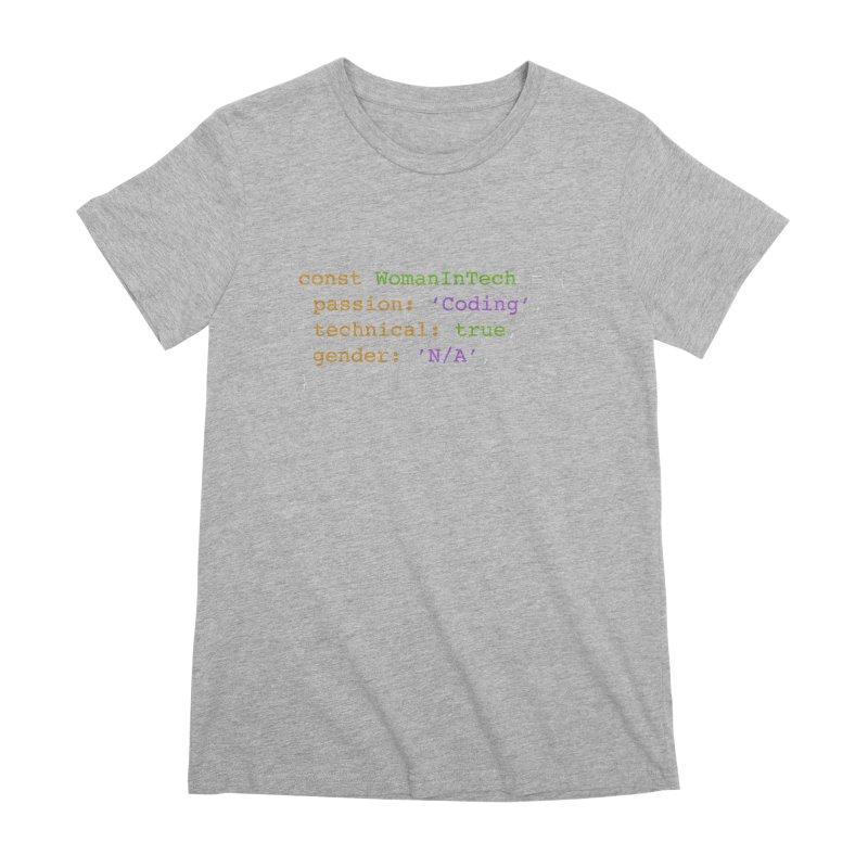 Woman in Tech definition Women's Premium T-Shirt by Women in Technology Online Store