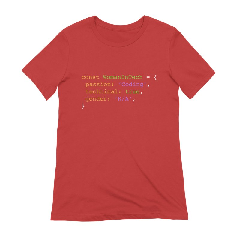 Woman in Tech definition Women's Extra Soft T-Shirt by Women in Technology Online Store