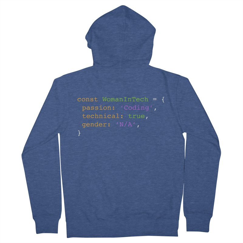 Woman in Tech definition Women's French Terry Zip-Up Hoody by Women in Technology Online Store