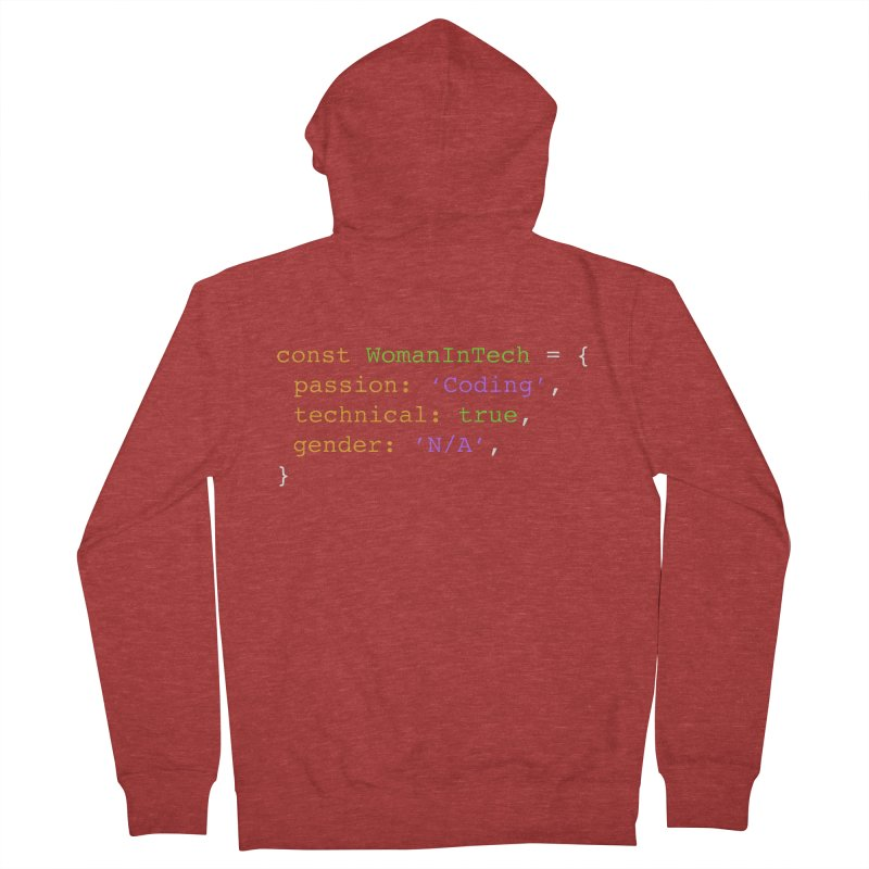 Woman in Tech definition Men's French Terry Zip-Up Hoody by Women in Technology Online Store