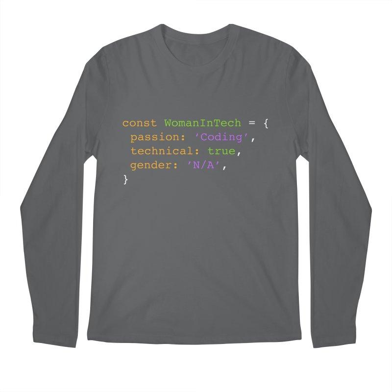 Woman in Tech definition Men's Regular Longsleeve T-Shirt by Women in Technology Online Store