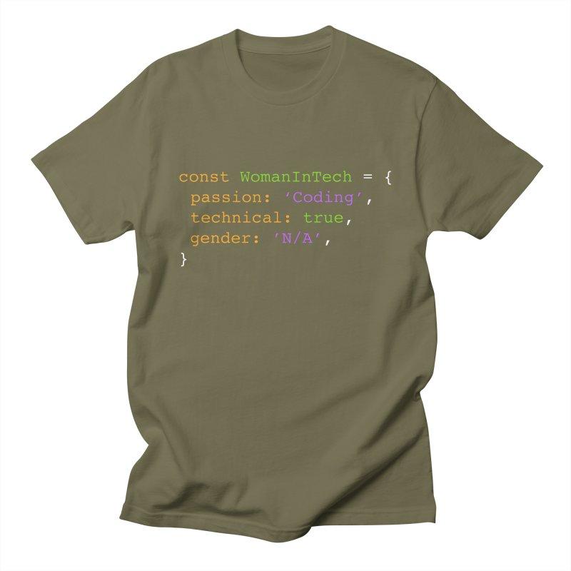 Woman in Tech definition Women's Regular Unisex T-Shirt by Women in Technology Online Store