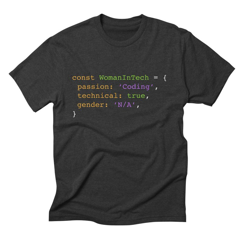 Woman in Tech definition Men's Triblend T-Shirt by Women in Technology Online Store