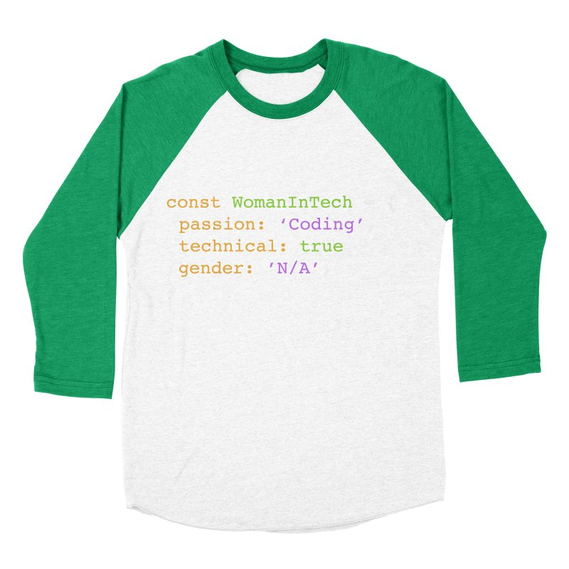 Woman in Tech definition Women's Baseball Triblend Longsleeve T-Shirt by Women in Technology Online Store