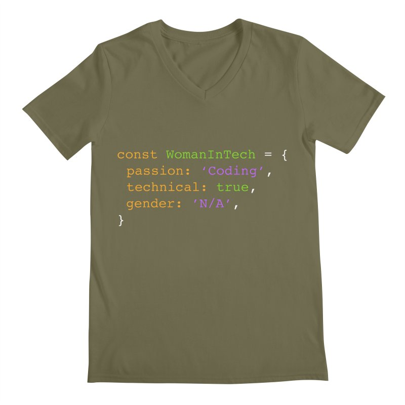 Woman in Tech definition Men's V-Neck by Women in Technology Online Store