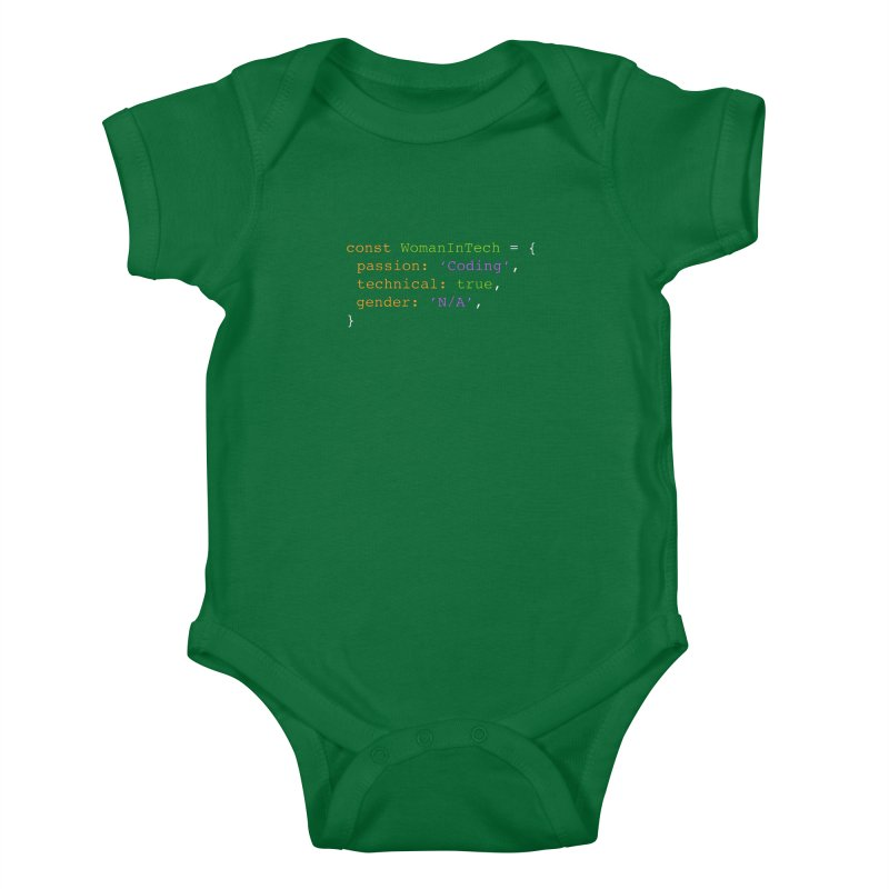 Woman in Tech definition Kids Baby Bodysuit by Women in Technology Online Store