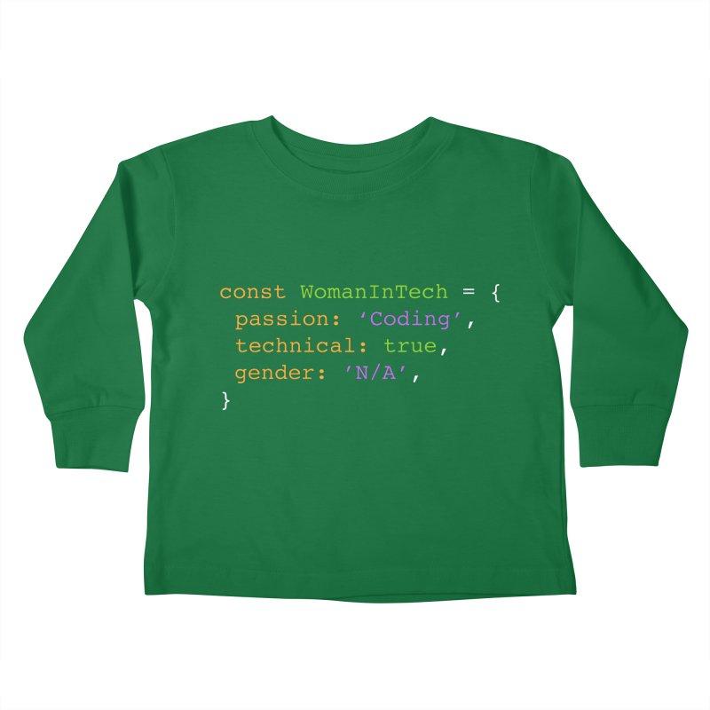 Woman in Tech definition Kids Toddler Longsleeve T-Shirt by Women in Technology Online Store