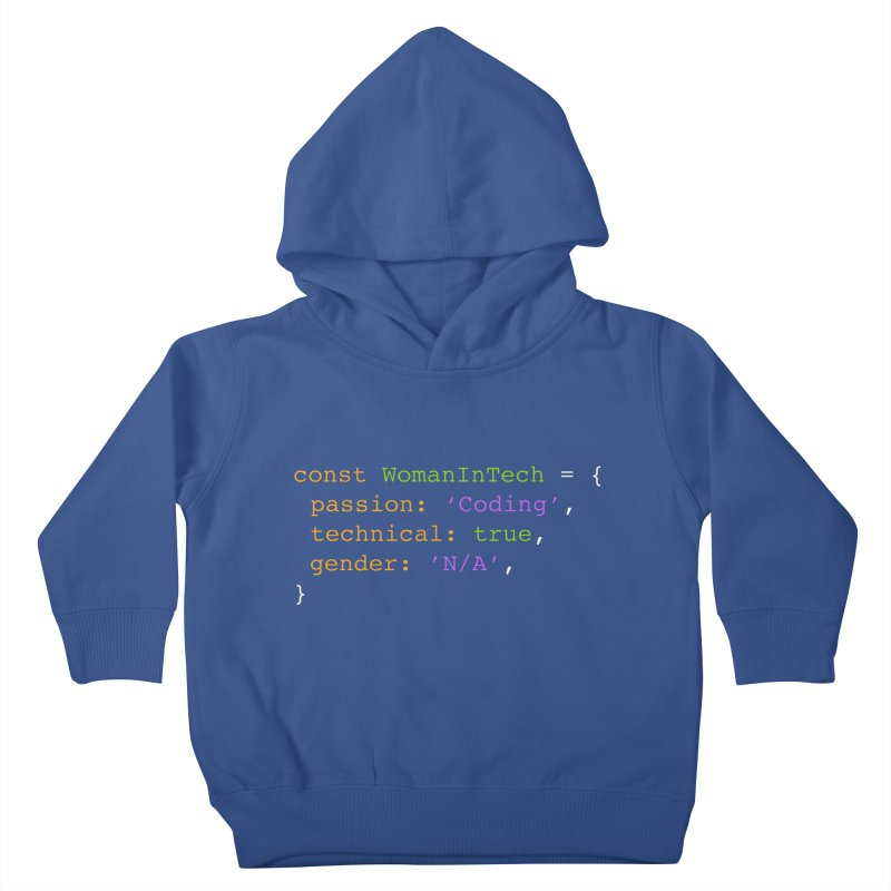 Woman in Tech definition Kids Toddler Pullover Hoody by Women in Technology Online Store