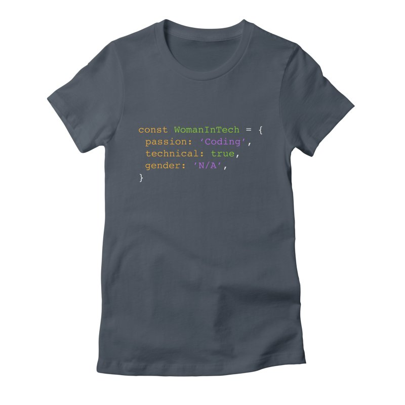 Woman in Tech definition Women's T-Shirt by Women in Technology Online Store