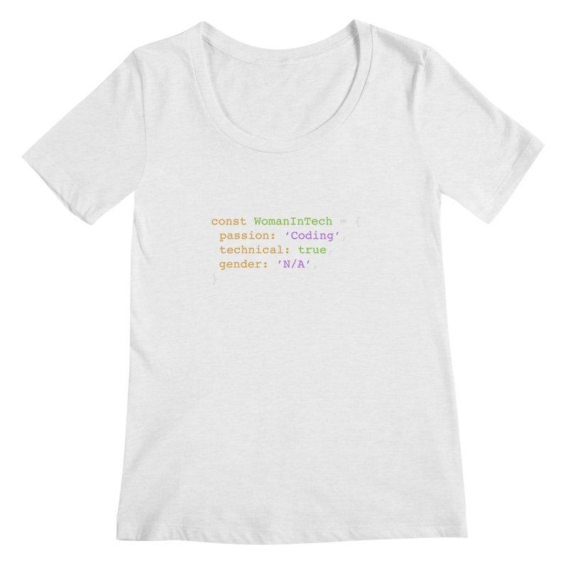 Woman in Tech definition Women's Regular Scoop Neck by Women in Technology Online Store