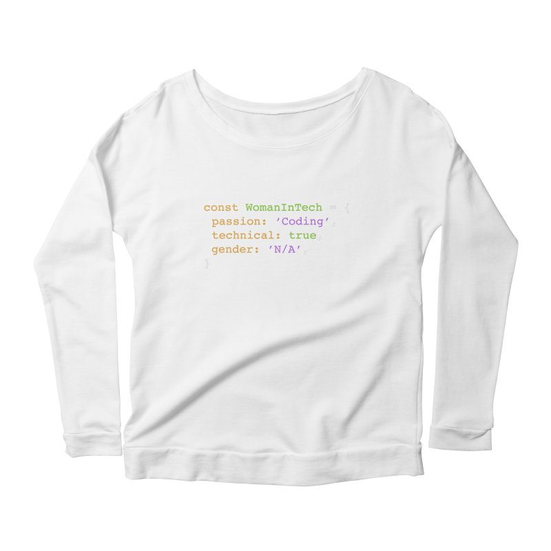 Woman in Tech definition Women's Scoop Neck Longsleeve T-Shirt by Women in Technology Online Store