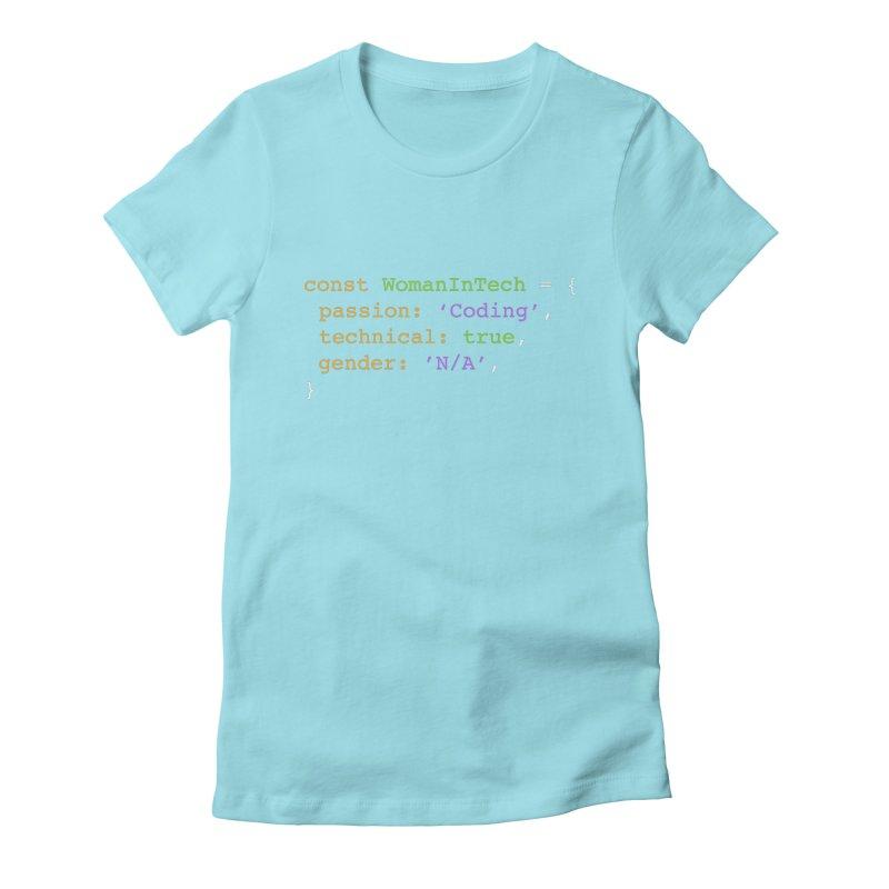 Woman in Tech definition Women's Fitted T-Shirt by Women in Technology Online Store
