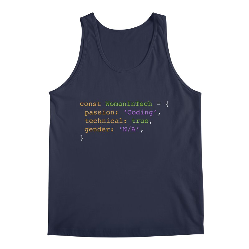 Woman in Tech definition Men's Regular Tank by Women in Technology Online Store
