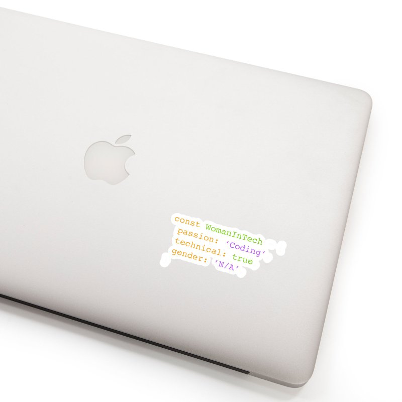 Woman in Tech definition Accessories Sticker by Women in Technology Online Store