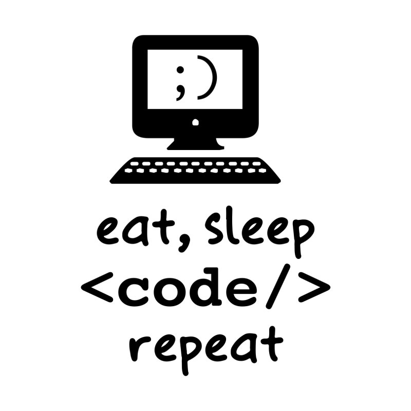 Eat, Sleep, <Code/>, Repeat Home Bath Mat by Women in Technology Online Store