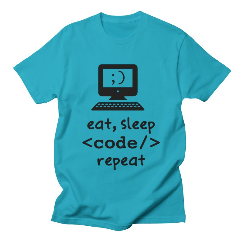 Eat, Sleep, <Code/>, Repeat Men's T-Shirt by Women in Technology Online Store