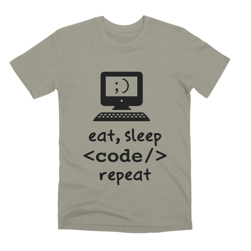 Eat, Sleep, <Code/>, Repeat Men's Premium T-Shirt by Women in Technology Online Store