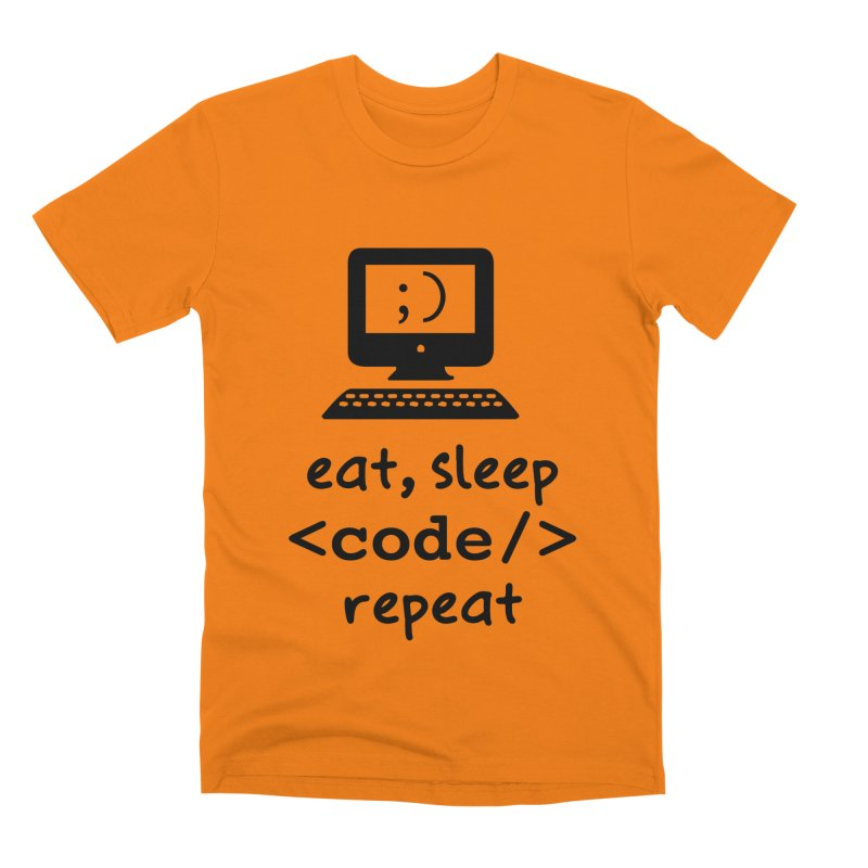 Eat, Sleep, <Code/>, Repeat Men's T-Shirt by Women in Technology Online Store