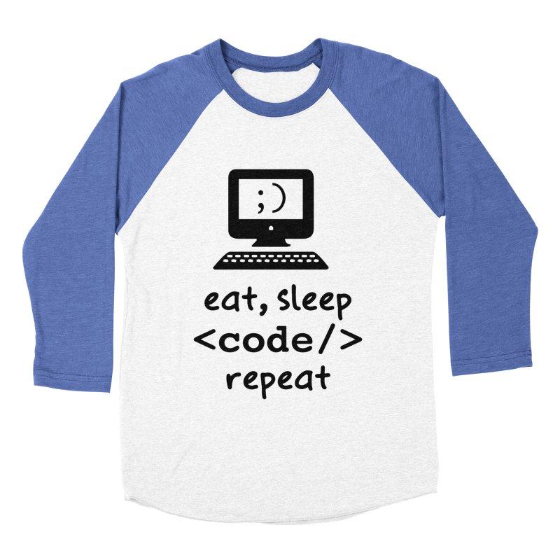 Eat, Sleep, <Code/>, Repeat Men's Longsleeve T-Shirt by Women in Technology Online Store