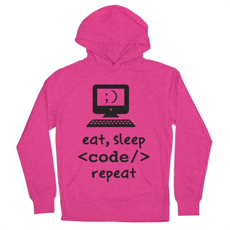 Eat, Sleep, <Code/>, Repeat Men's French Terry Pullover Hoody by Women in Technology Online Store
