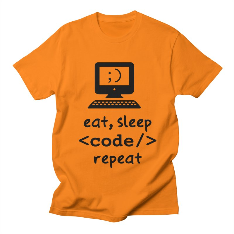 Eat, Sleep, <Code/>, Repeat Men's Regular T-Shirt by Women in Technology Online Store