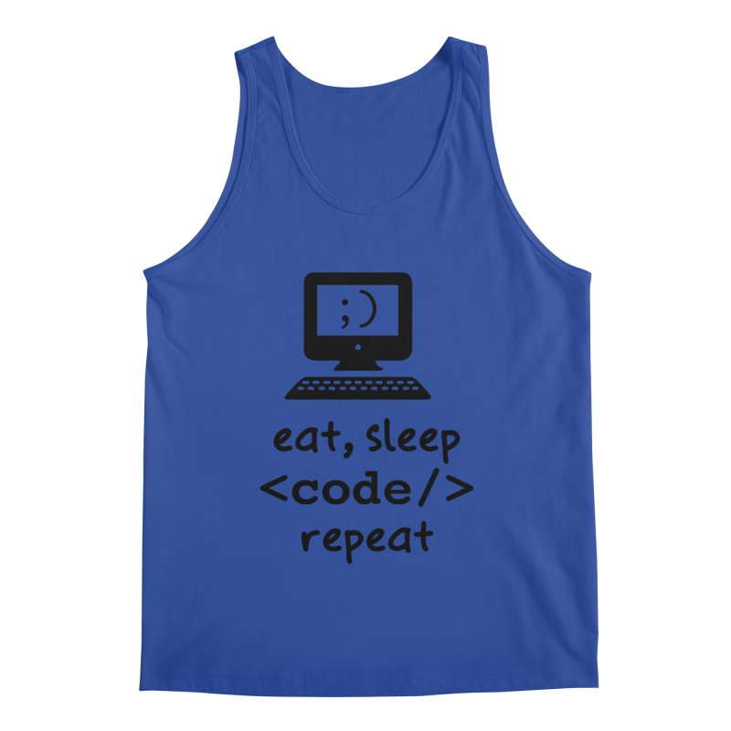 Eat, Sleep, <Code/>, Repeat Men's Tank by Women in Technology Online Store