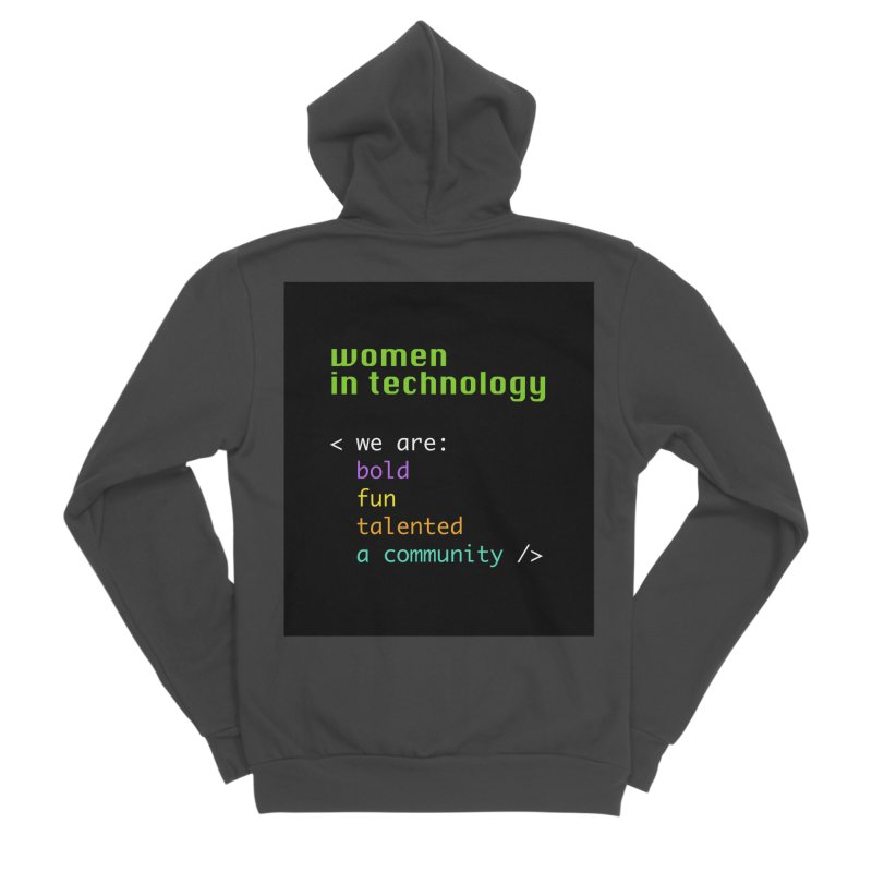 Women in Technology - We are a community Women's Zip-Up Hoody by Women in Technology Online Store