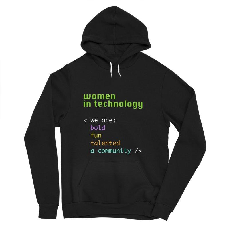 Women in Technology - We are a community Women's Sponge Fleece Pullover Hoody by Women in Technology Online Store
