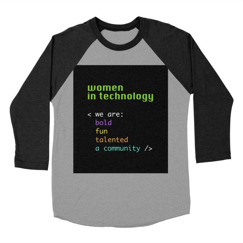 Women in Technology - We are a community Men's Longsleeve T-Shirt by Women in Technology Online Store