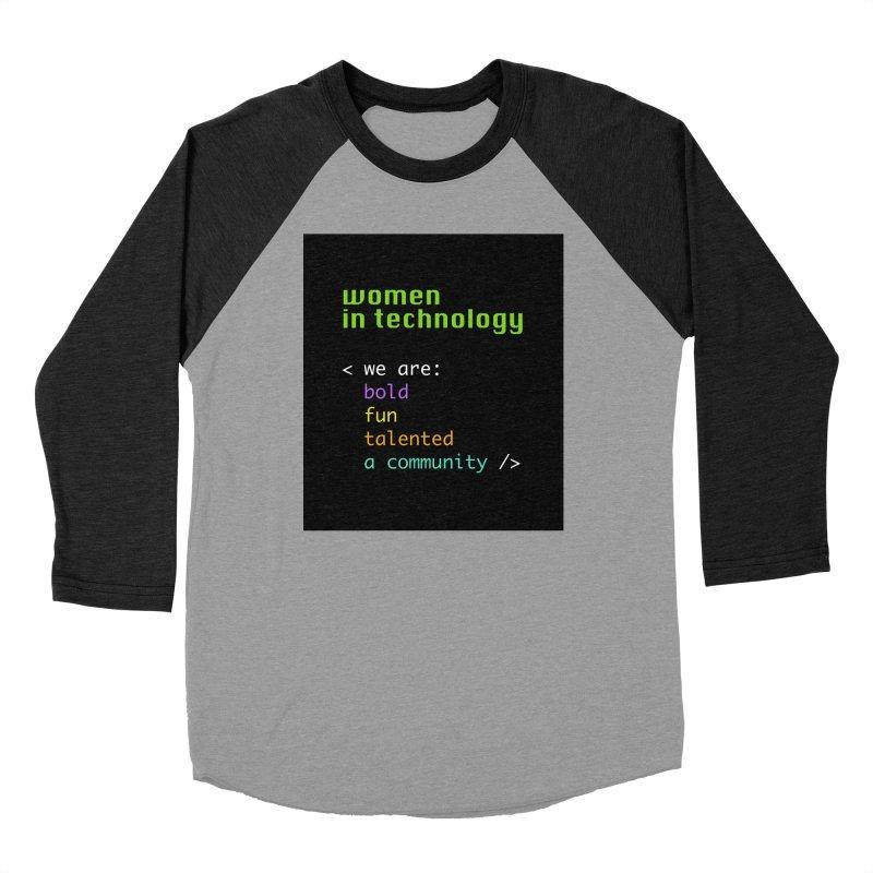 Women in Technology - We are a community Women's Longsleeve T-Shirt by Women in Technology Online Store