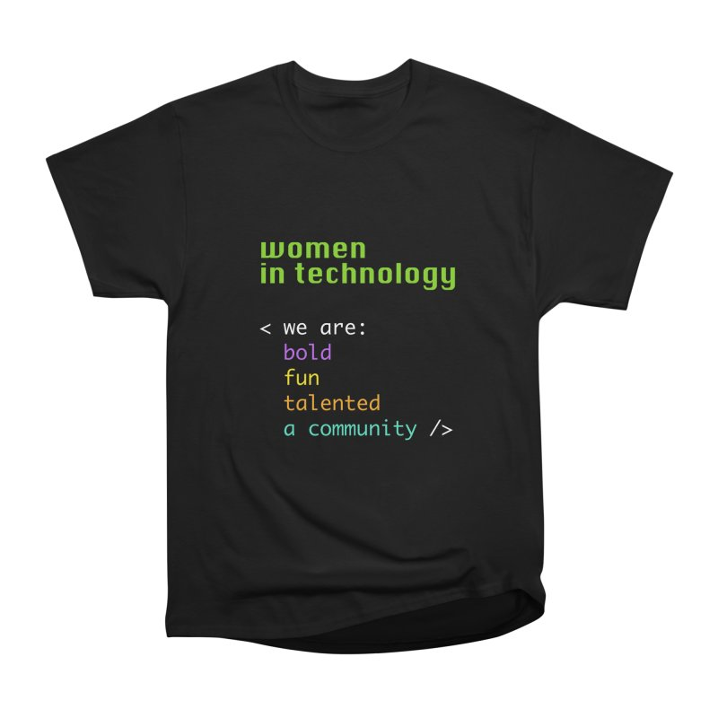Women in Technology - We are a community Men's Heavyweight T-Shirt by Women in Technology Online Store